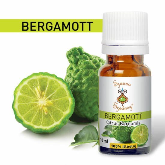 Bergamott 100%-os illóolaj, 10 ml