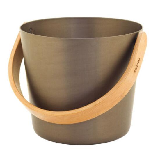 Szauna vödör 5 liter - aluminium barna