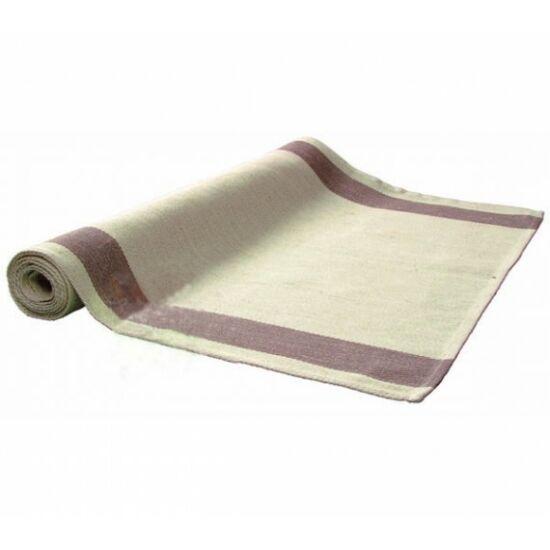 Vászon padkendő, barna- 150x50cm