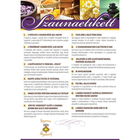 Szaunaetikett - tájékoztató plakát A/4