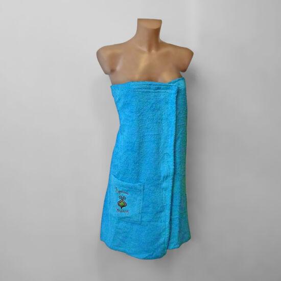 Egyrészes szaunaruha nőknek - kék (XL)