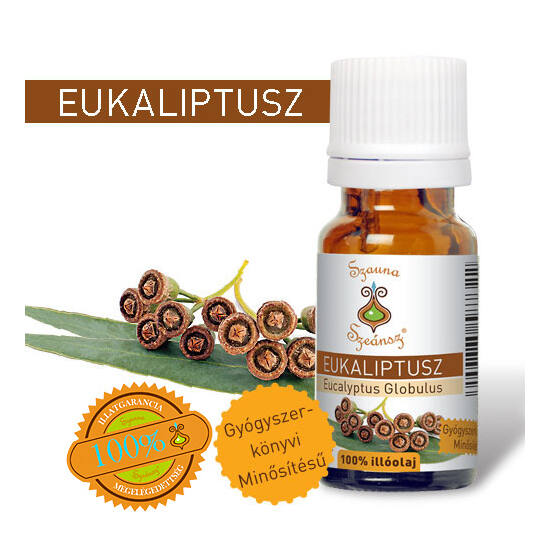 Eukaliptusz 100%-os illóolaj, 10 ml