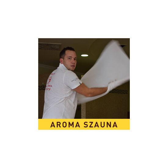 2017.05.06. - 20:30: Szabó Dániel: Az utolsó mohikán - bazsalikomos sós bőrradírozás, mandarinos virágos illatjegyekkel(AROMA szauna) - karszalag: lábnyom