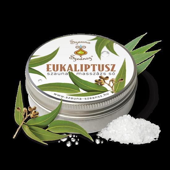 Eukaliptusz szauna masszázs só