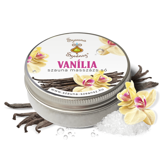 Vanília szauna masszázs só