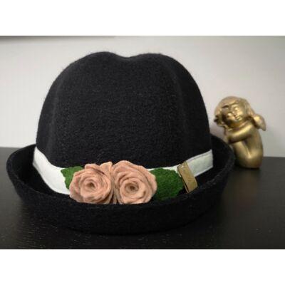 Virágos kalap, 100% gyapjú