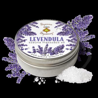 Levendula szauna masszázs só